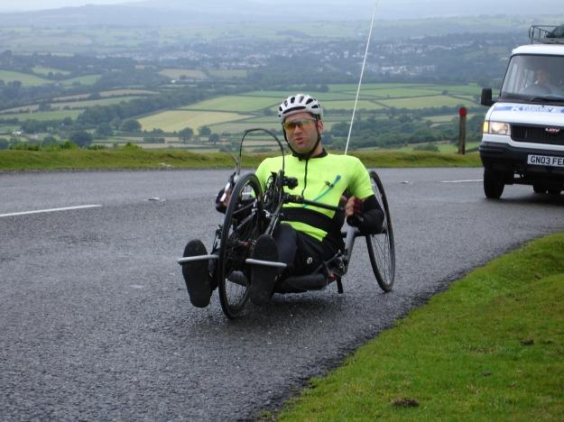 Dave climbing Dartmoor