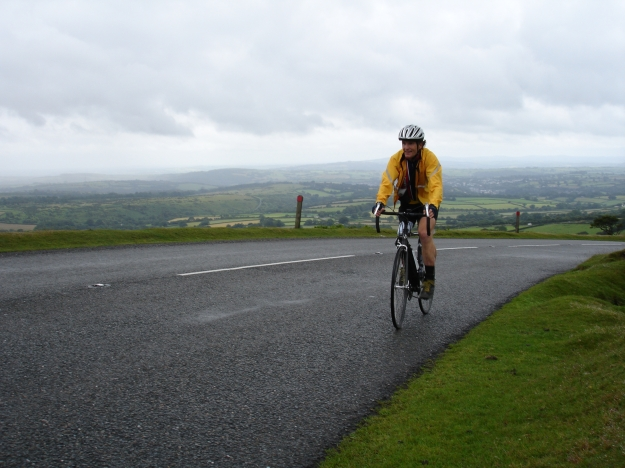 Steve climbing Dartmoor